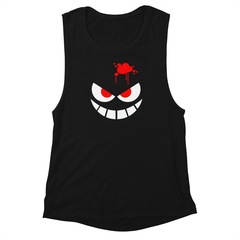 Bloody Grin Women's Muscle Tank by SavageMonsters's Artist Shop