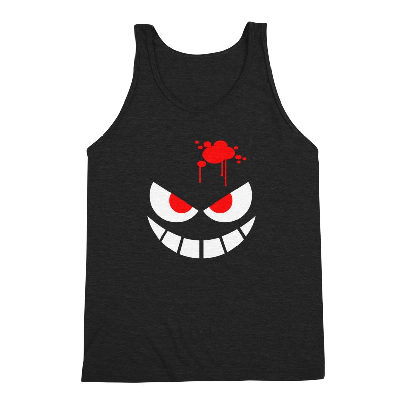 Bloody Grin Men's Triblend Tank by SavageMonsters's Artist Shop