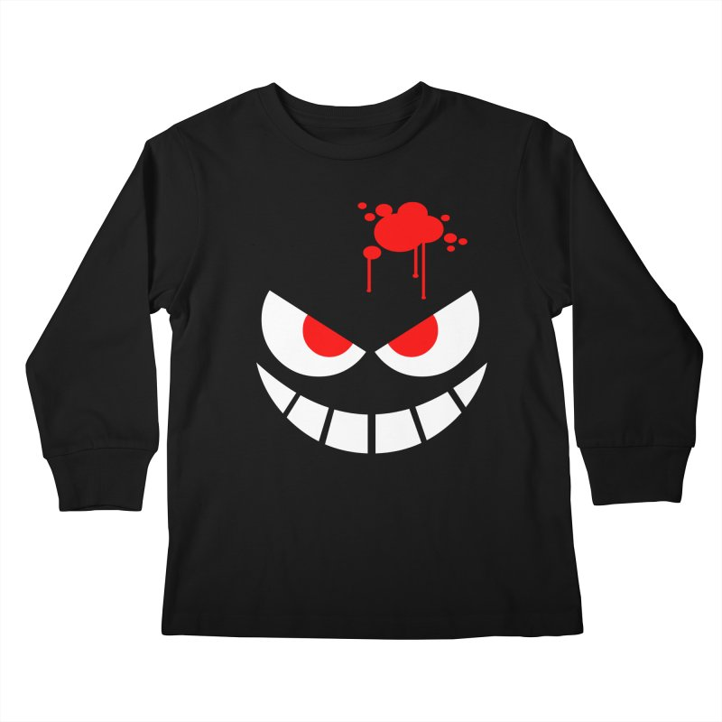 Bloody Grin Kids Longsleeve T-Shirt by SavageMonsters's Artist Shop