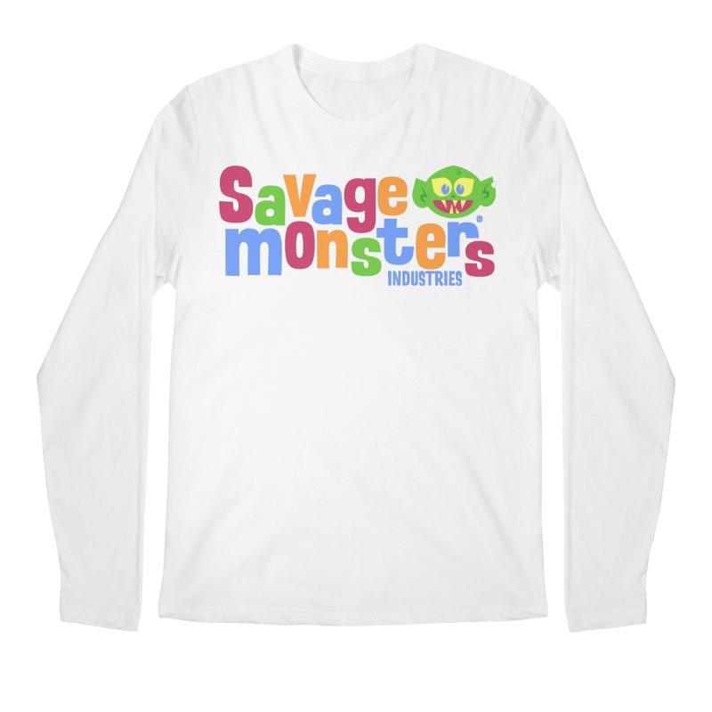 Savage Monsters Fun Logo Men's Longsleeve T-Shirt by SavageMonsters's Artist Shop