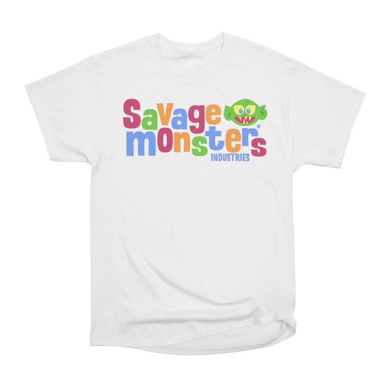 Savage Monsters Fun Logo Men's Heavyweight T-Shirt by SavageMonsters's Artist Shop