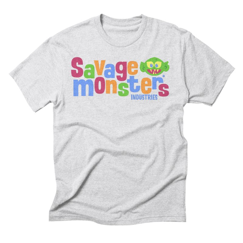 Savage Monsters Fun Logo Men's Triblend T-Shirt by SavageMonsters's Artist Shop