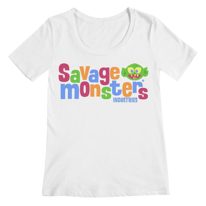Savage Monsters Fun Logo Women's Regular Scoop Neck by SavageMonsters's Artist Shop