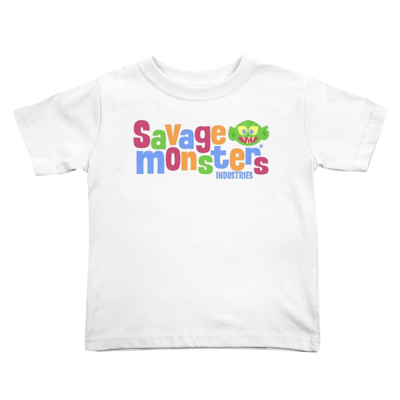 Savage Monsters Fun Logo Kids Toddler T-Shirt by SavageMonsters's Artist Shop
