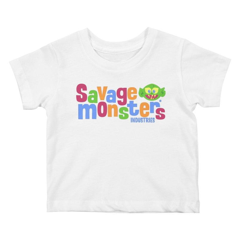 Savage Monsters Fun Logo Kids Baby T-Shirt by SavageMonsters's Artist Shop