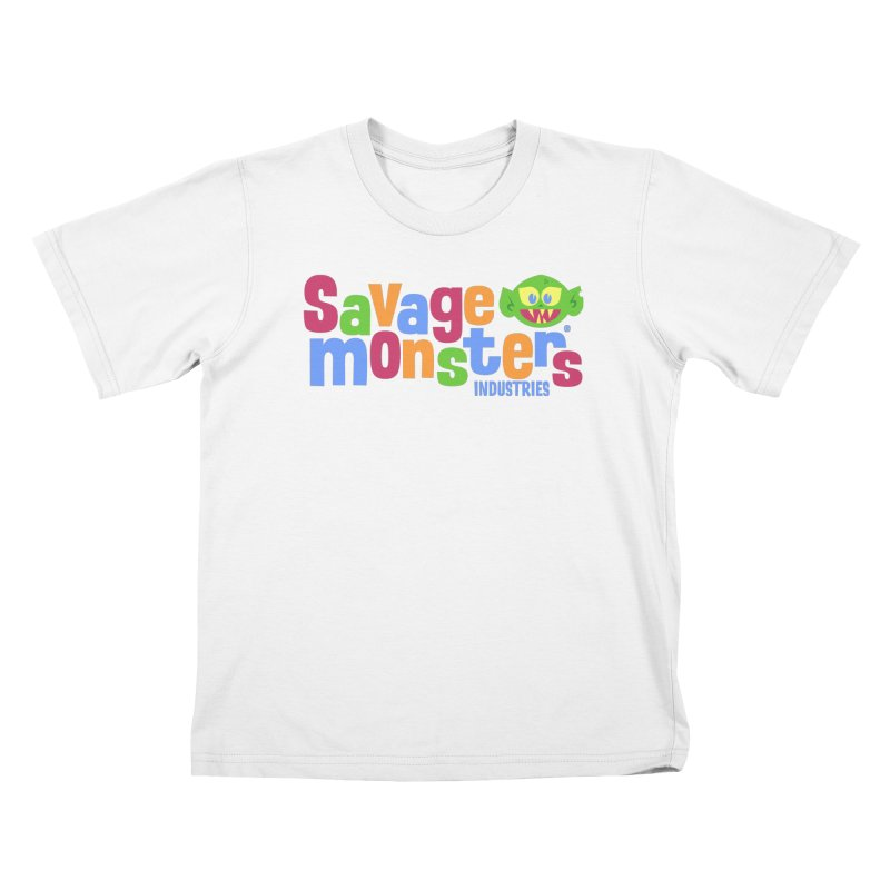 Savage Monsters Fun Logo Kids T-Shirt by SavageMonsters's Artist Shop