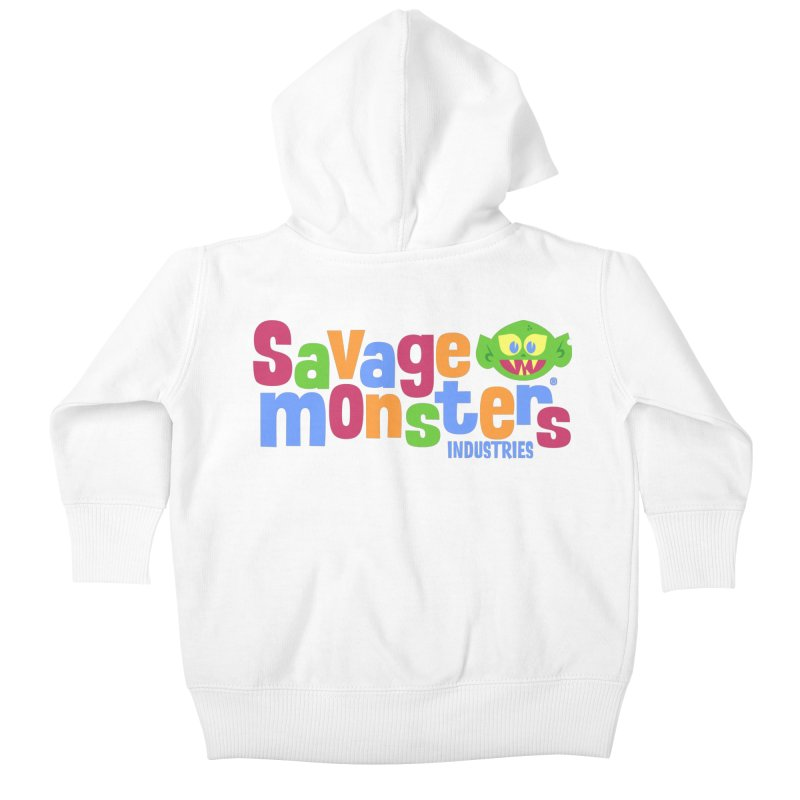 Savage Monsters Fun Logo Kids Baby Zip-Up Hoody by SavageMonsters's Artist Shop