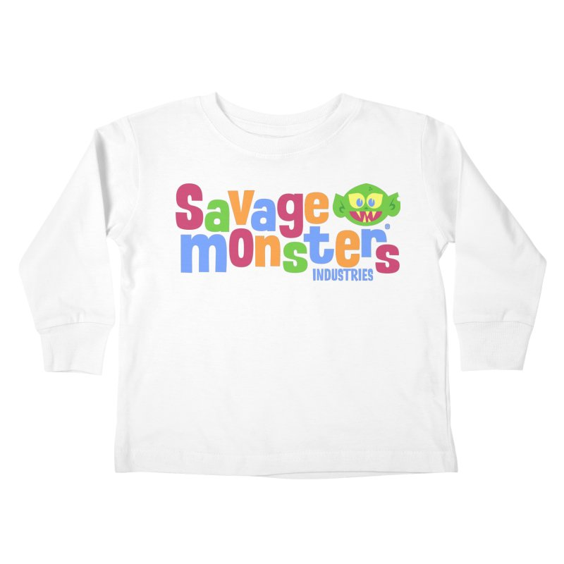 Savage Monsters Fun Logo Kids Toddler Longsleeve T-Shirt by SavageMonsters's Artist Shop
