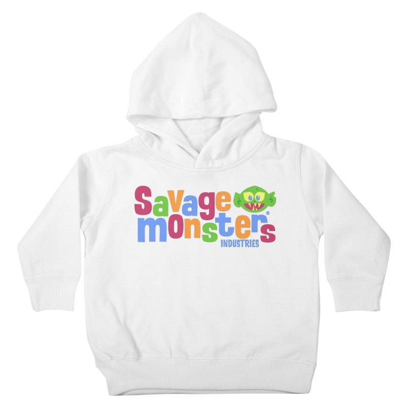 Savage Monsters Fun Logo Kids Toddler Pullover Hoody by SavageMonsters's Artist Shop