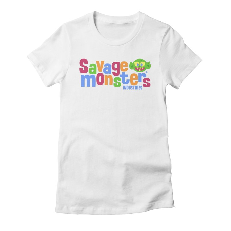 Savage Monsters Fun Logo Women's Fitted T-Shirt by SavageMonsters's Artist Shop