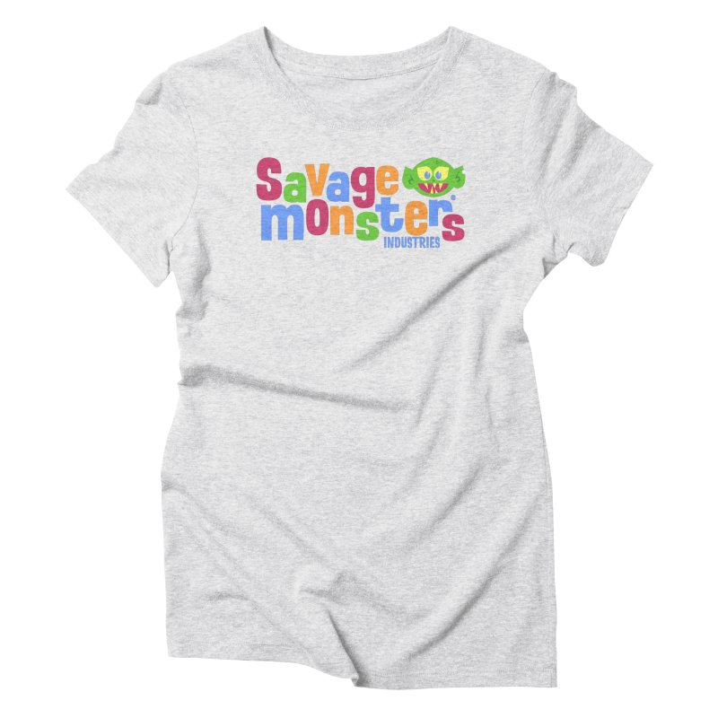 Savage Monsters Fun Logo Women's Triblend T-Shirt by SavageMonsters's Artist Shop
