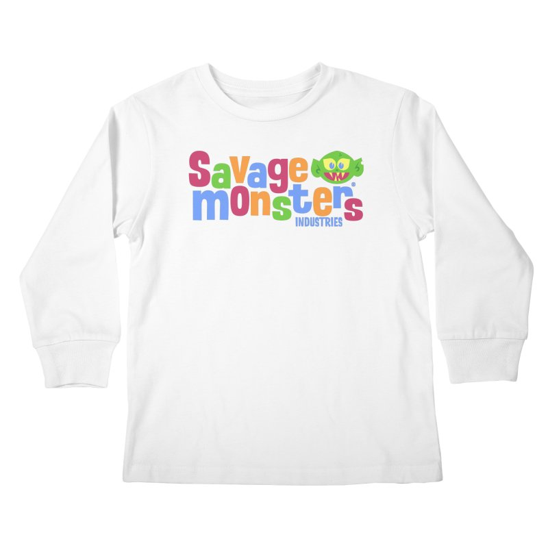 Savage Monsters Fun Logo Kids Longsleeve T-Shirt by SavageMonsters's Artist Shop