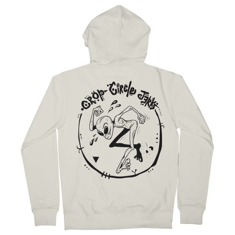 Crop Circle Jerks Women's French Terry Zip-Up Hoody by SavageMonsters's Artist Shop
