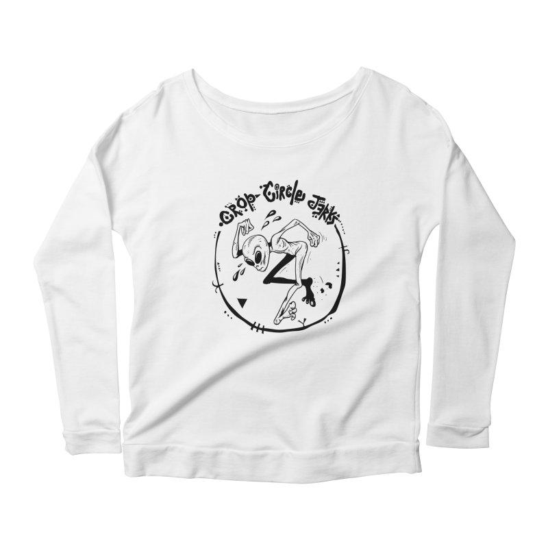 Crop Circle Jerks Women's Scoop Neck Longsleeve T-Shirt by SavageMonsters's Artist Shop