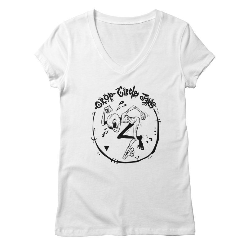 Crop Circle Jerks Women's V-Neck by SavageMonsters's Artist Shop