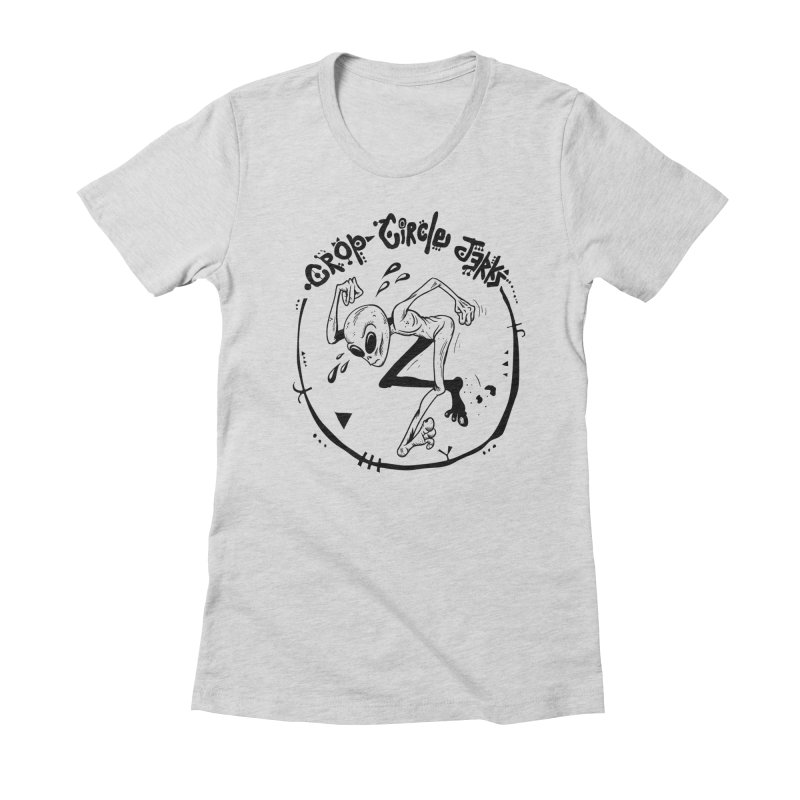 Crop Circle Jerks Women's Fitted T-Shirt by SavageMonsters's Artist Shop