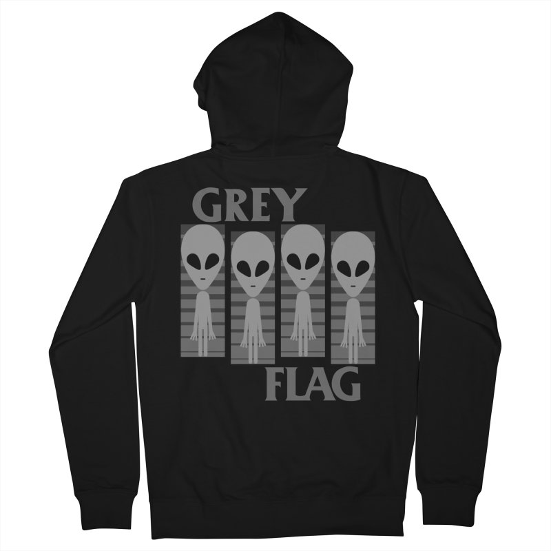 GREY FLAG Men's Zip-Up Hoody by SavageMonsters's Artist Shop