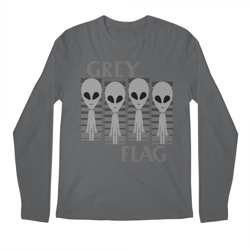 GREY FLAG Men's Longsleeve T-Shirt by SavageMonsters's Artist Shop