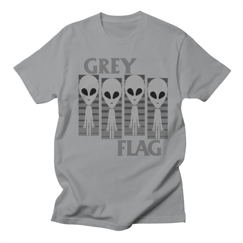 GREY FLAG Men's Regular T-Shirt by SavageMonsters's Artist Shop
