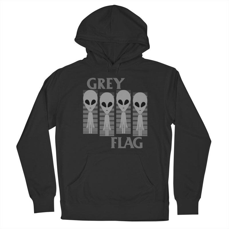 GREY FLAG Men's Pullover Hoody by SavageMonsters's Artist Shop