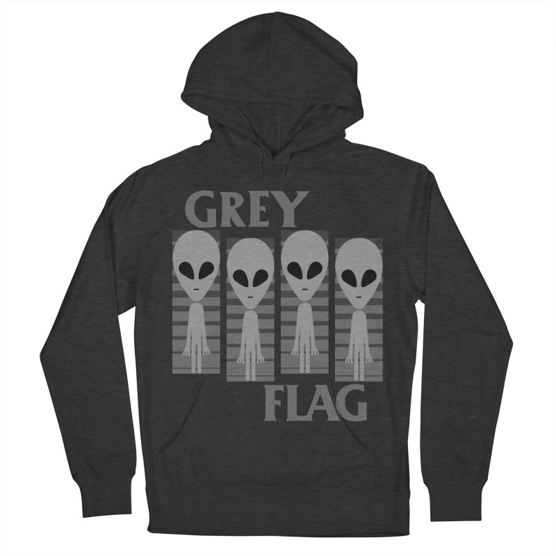 GREY FLAG Women's French Terry Pullover Hoody by SavageMonsters's Artist Shop