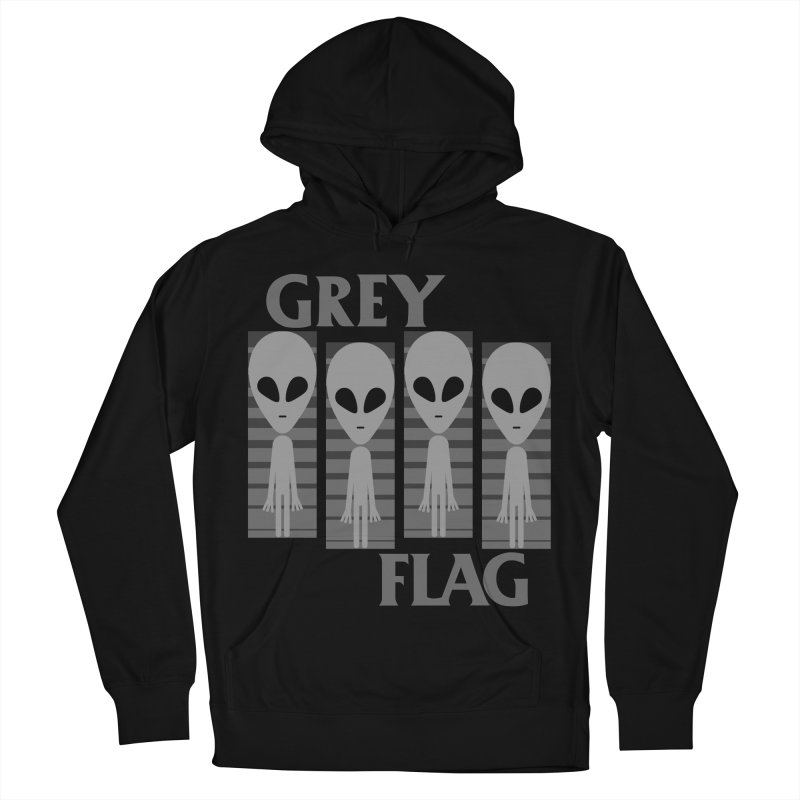 GREY FLAG Men's French Terry Pullover Hoody by SavageMonsters's Artist Shop