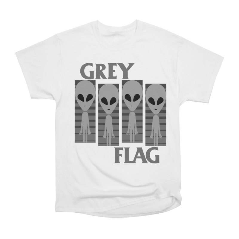 GREY FLAG Men's Heavyweight T-Shirt by SavageMonsters's Artist Shop