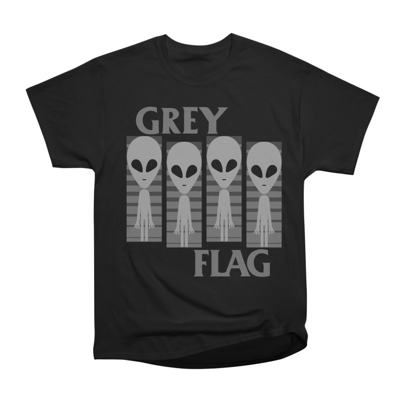 GREY FLAG Women's Classic Unisex T-Shirt by SavageMonsters's Artist Shop