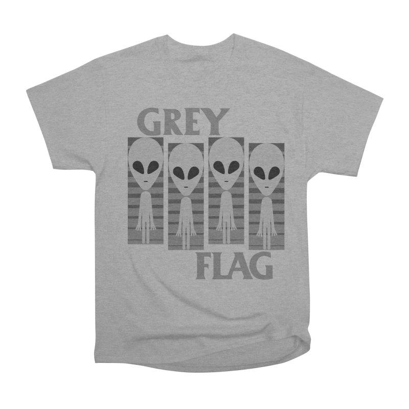 GREY FLAG Men's Heavyweight T-Shirt by SavageMonsters's Artist Shop