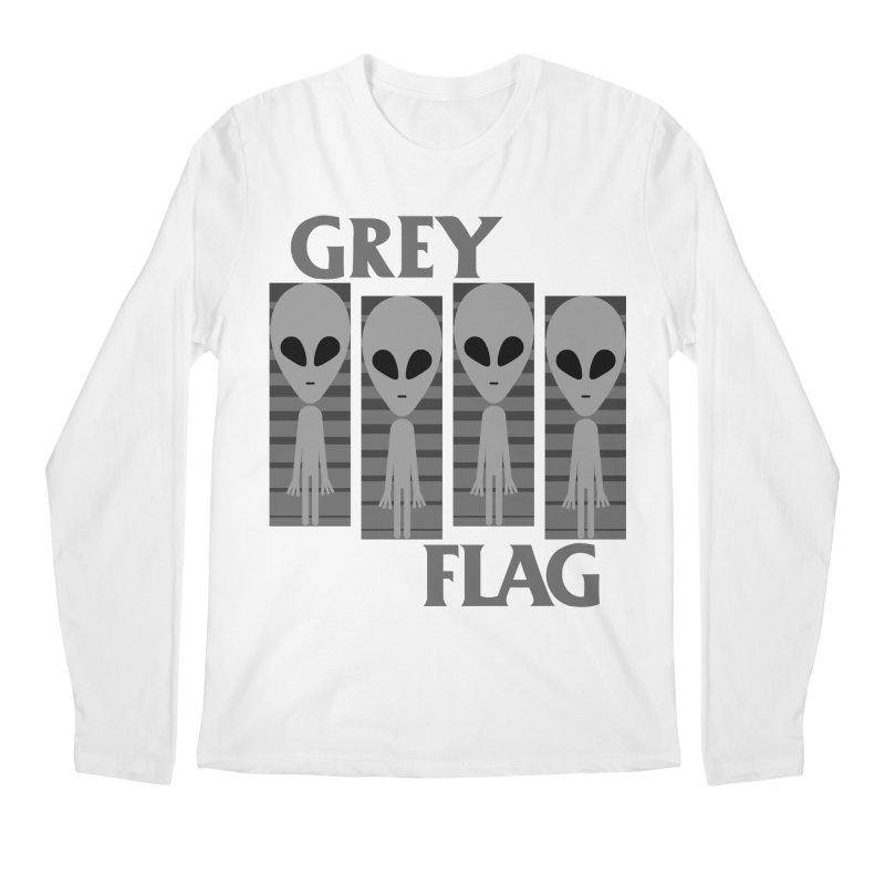 GREY FLAG Men's Regular Longsleeve T-Shirt by SavageMonsters's Artist Shop
