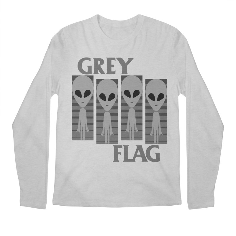 GREY FLAG Men's Regular Longsleeve T-Shirt by SavageMonsters's Artist Shop