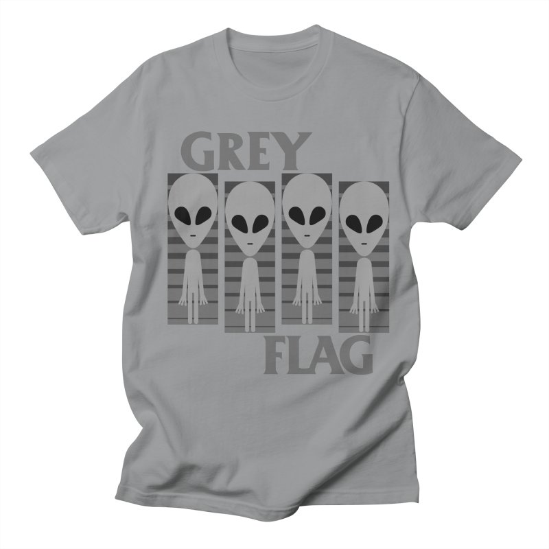 GREY FLAG Men's Regular T-Shirt by SavageMonsters's Artist Shop