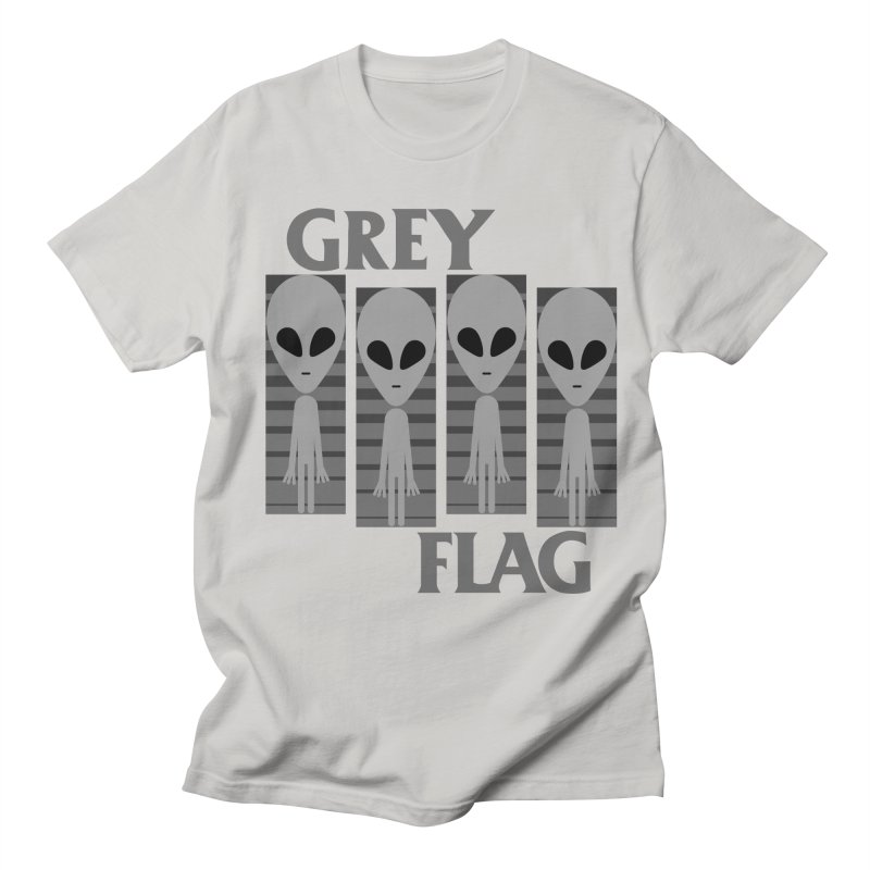 GREY FLAG Women's Regular Unisex T-Shirt by SavageMonsters's Artist Shop
