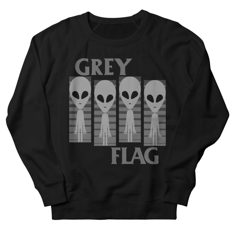 GREY FLAG Women's Sweatshirt by SavageMonsters's Artist Shop