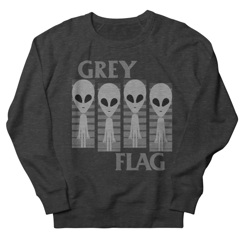 GREY FLAG Men's French Terry Sweatshirt by SavageMonsters's Artist Shop