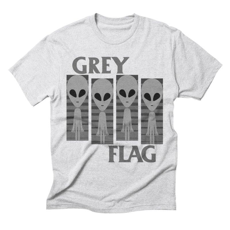 GREY FLAG Men's Triblend T-Shirt by SavageMonsters's Artist Shop