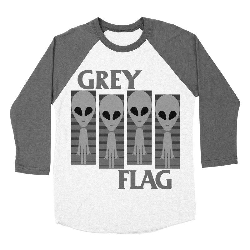 GREY FLAG Women's Baseball Triblend Longsleeve T-Shirt by SavageMonsters's Artist Shop