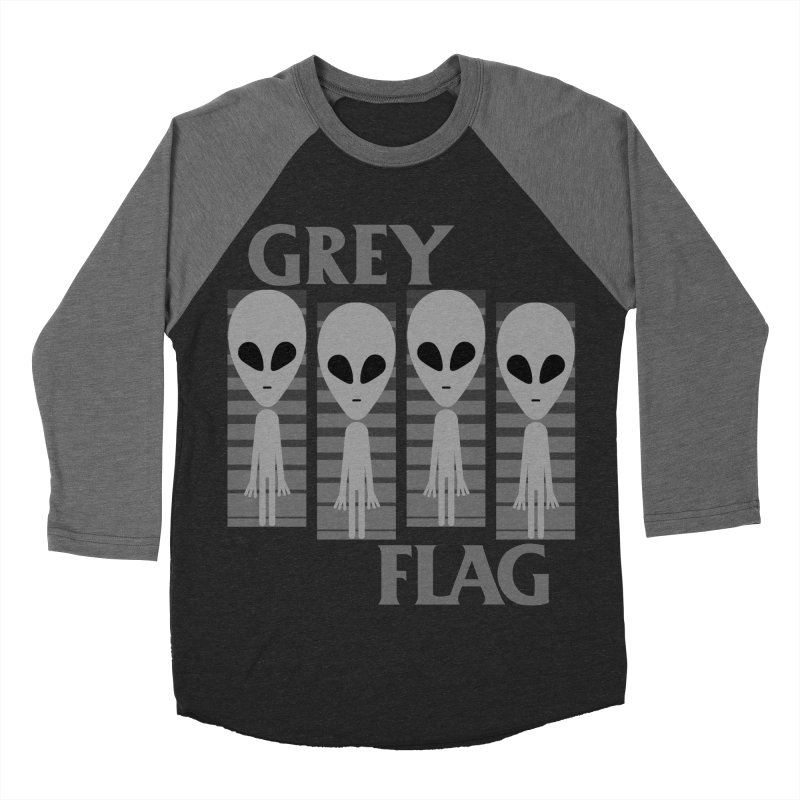 GREY FLAG Women's Baseball Triblend Longsleeve T-Shirt by SavageMonsters's Artist Shop