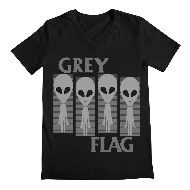 GREY FLAG Men's V-Neck by SavageMonsters's Artist Shop