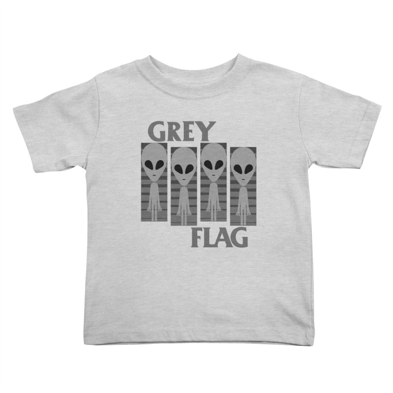 GREY FLAG Kids Toddler T-Shirt by SavageMonsters's Artist Shop