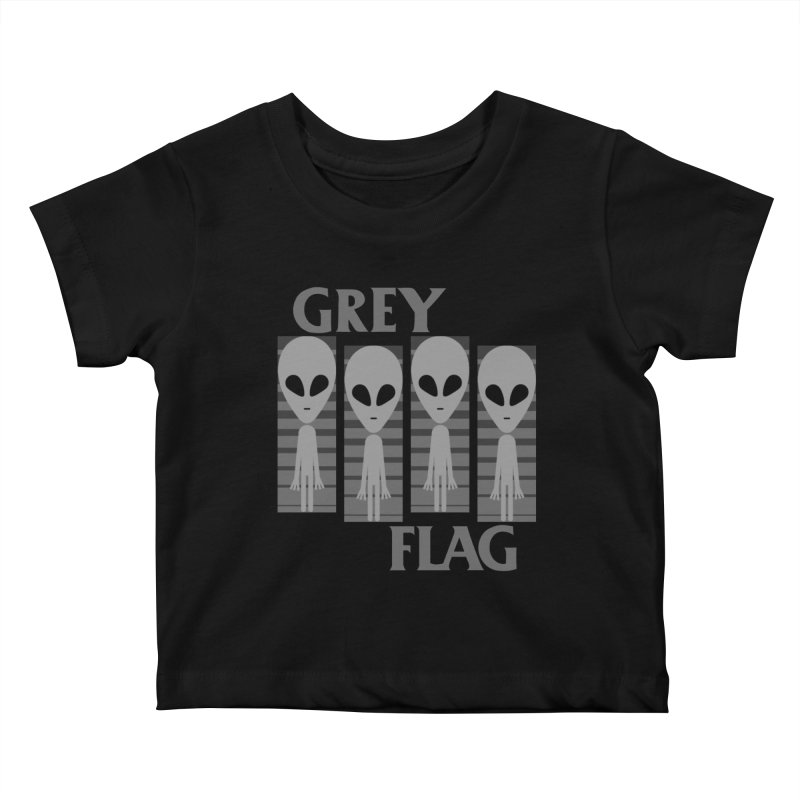 GREY FLAG Kids Baby T-Shirt by SavageMonsters's Artist Shop