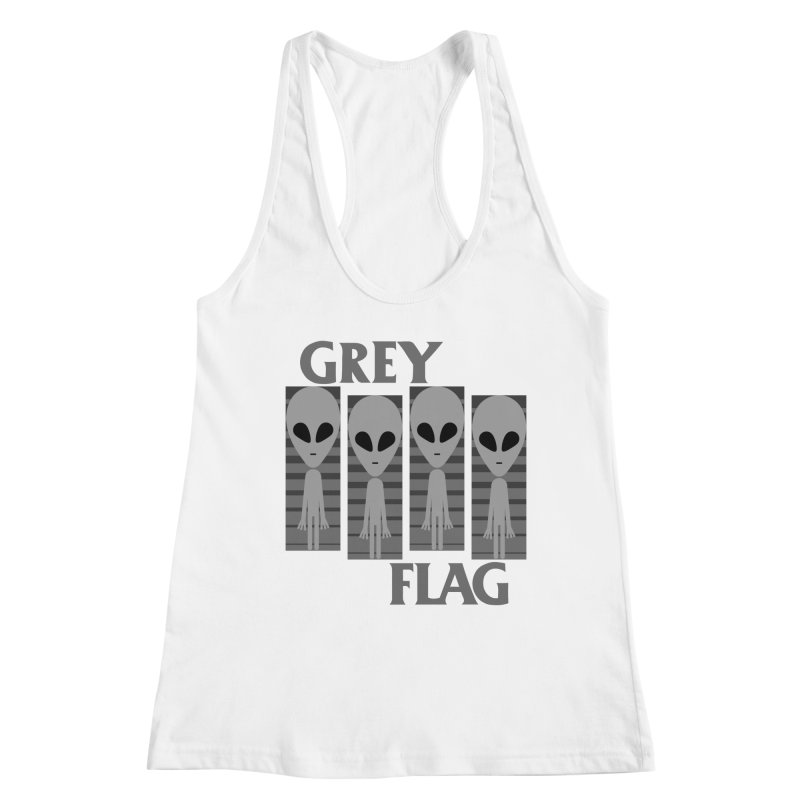 GREY FLAG Women's Racerback Tank by SavageMonsters's Artist Shop