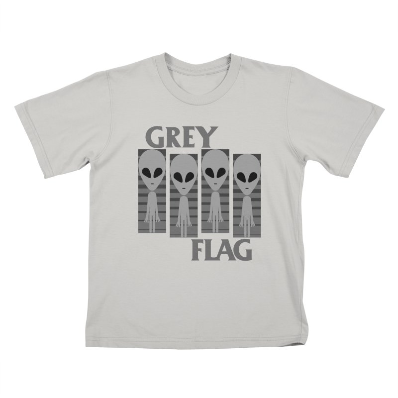 GREY FLAG Kids T-Shirt by SavageMonsters's Artist Shop