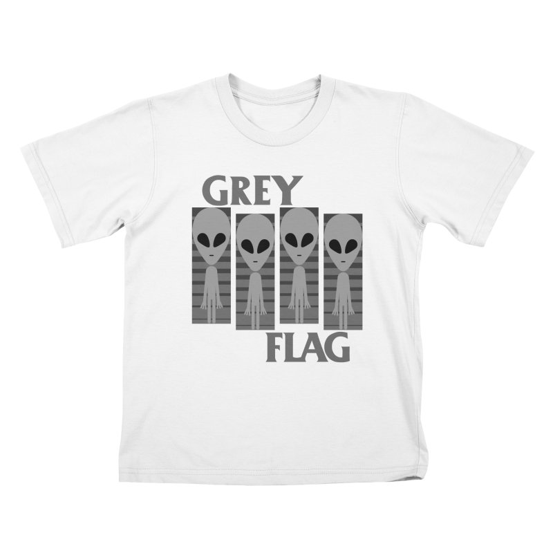 GREY FLAG Kids Toddler T-Shirt by SavageMonsters's Artist Shop