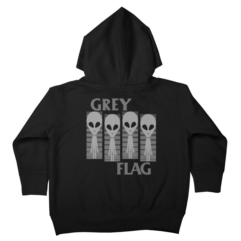 GREY FLAG Kids Toddler Zip-Up Hoody by SavageMonsters's Artist Shop