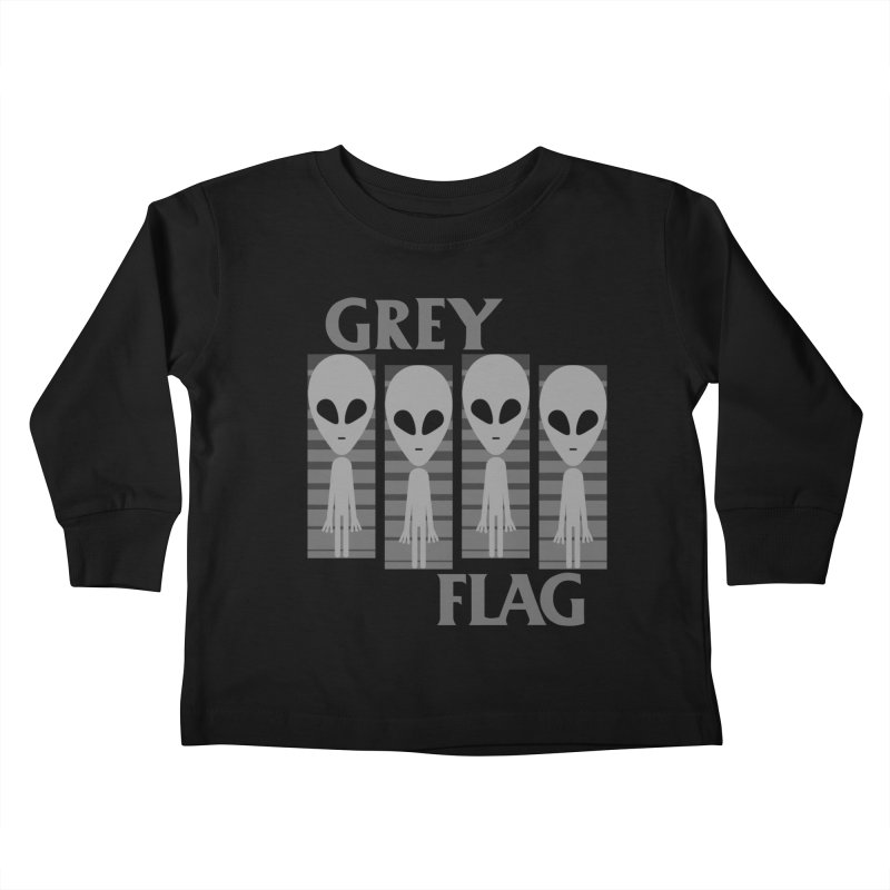 GREY FLAG Kids Toddler Longsleeve T-Shirt by SavageMonsters's Artist Shop