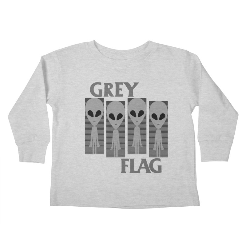 GREY FLAG Kids Toddler Longsleeve T-Shirt by SavageMonsters's Artist Shop
