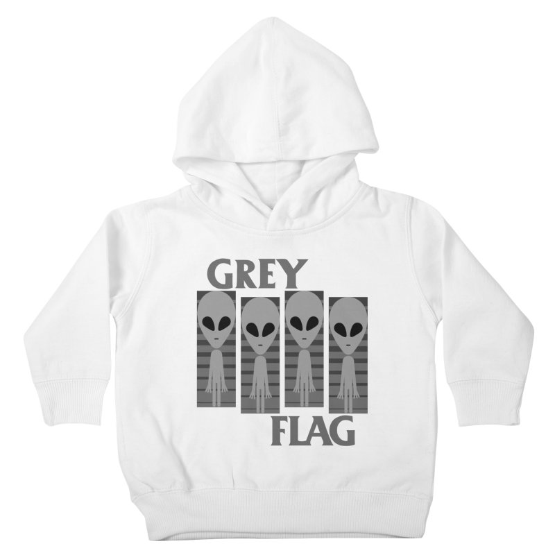GREY FLAG Kids Toddler Pullover Hoody by SavageMonsters's Artist Shop