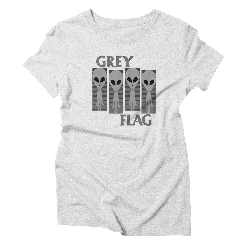 GREY FLAG Women's T-Shirt by SavageMonsters's Artist Shop