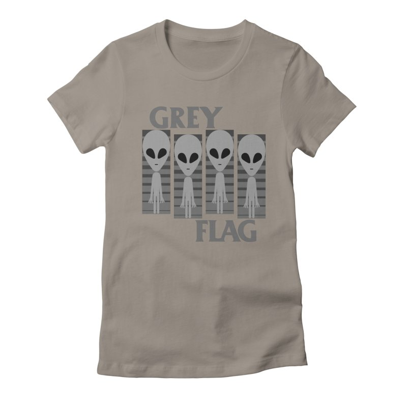 GREY FLAG Women's T-Shirt by SavageMonsters's Artist Shop